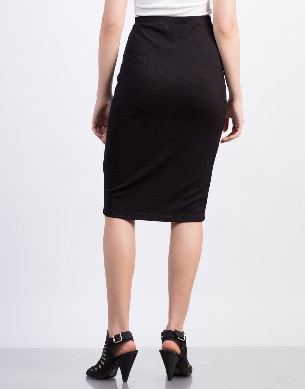 Back View of Zig Zag Pencil Skirt