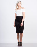 Front View of Zig Zag Pencil Skirt