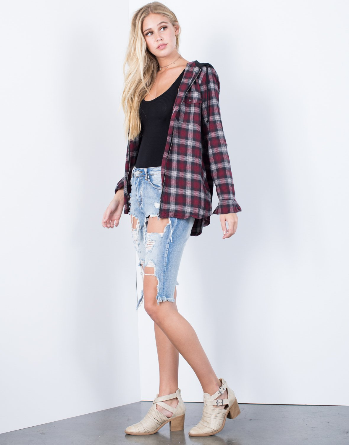 Zipped in Plaid Jacket