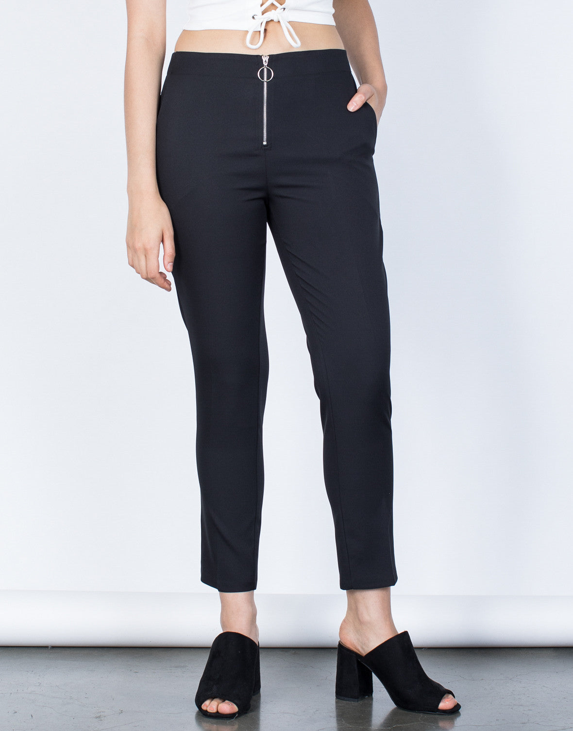 Zipped Ring Pants
