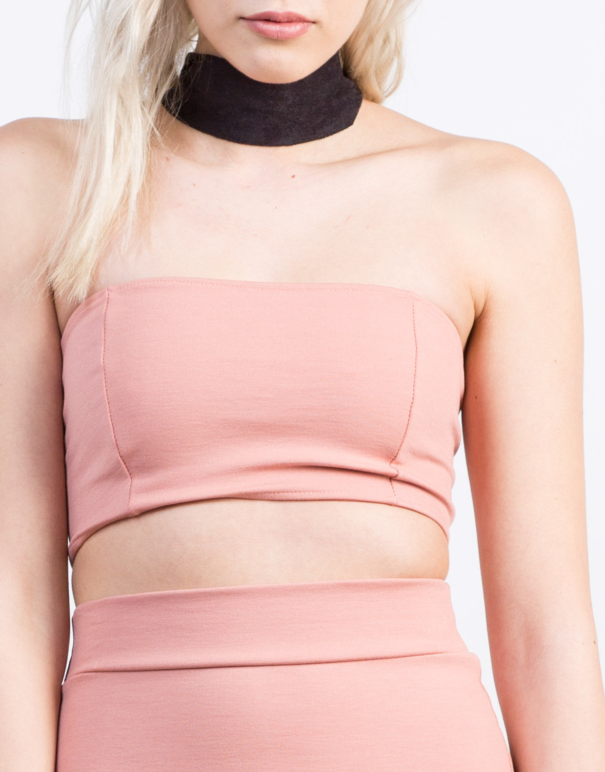 Detail of Zipped Up Crop Top