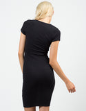 Back View of Zippered Bodycon Dress