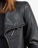 Detail of Zippered Detail Leather Jacket