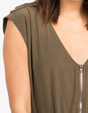 Detail of Zippered Utility Jumpsuit