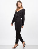 Side View of Zip Up Jumpsuit