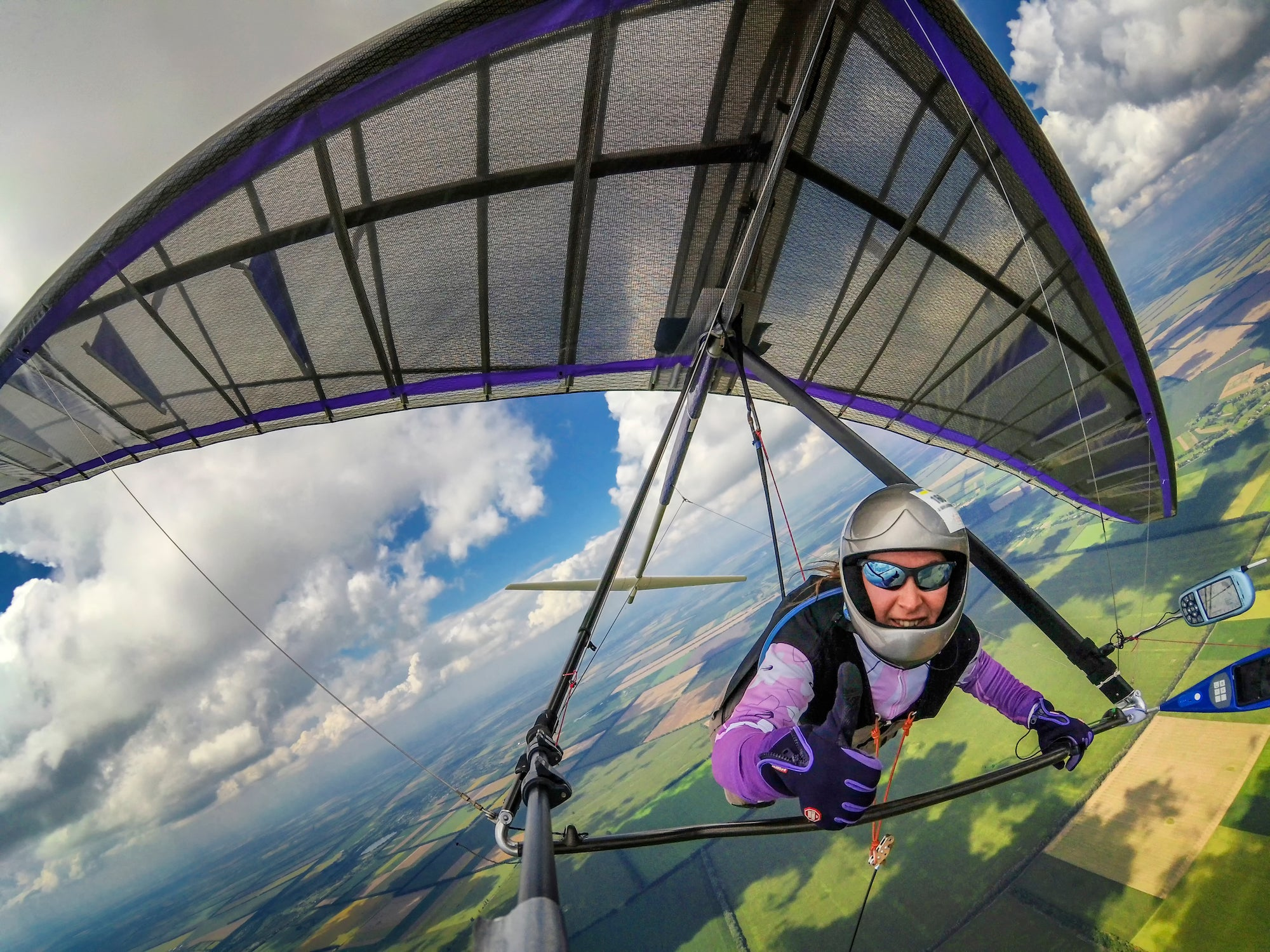 Club Fearless Test #4 Hang Gliding SOLO from 1000 feet or higher
