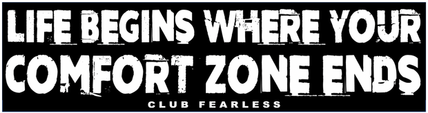 Comfort Zone Ends Bumper Sticker
