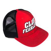 Club Fearless Trucker Hat - Red/Black