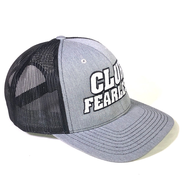Club Fearless Trucker Hat - Silver/Black