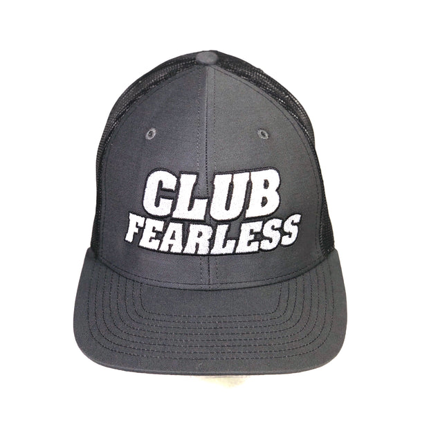 Club Fearless Trucker Hat - Charcoal/Black