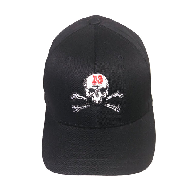 Skull & Bones Fitted Hat - Black