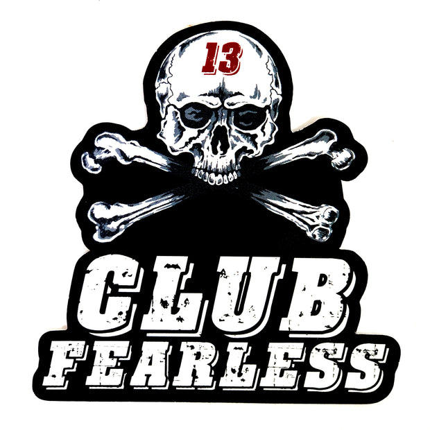 Sticker - Small Club Fearless Diecut