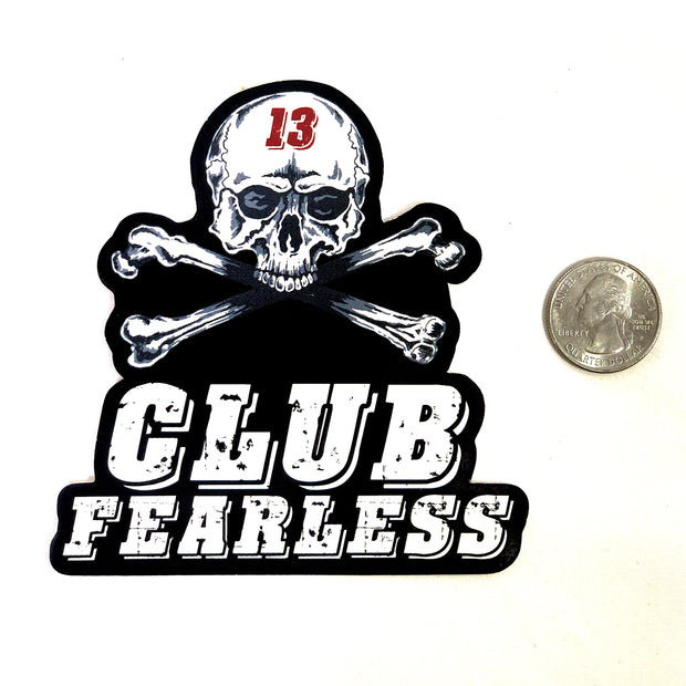 Sticker - Medium Club Fearless Diecut