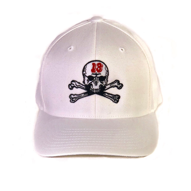 Skull & Bones Fitted Hat - White