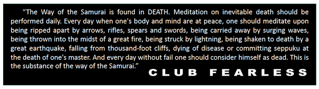 The way of the Samurai is found in death