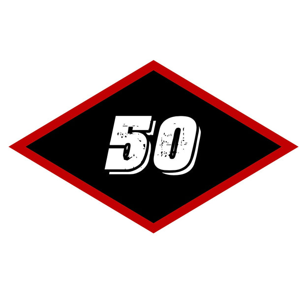 Sticker - Large Black Diamond 50
