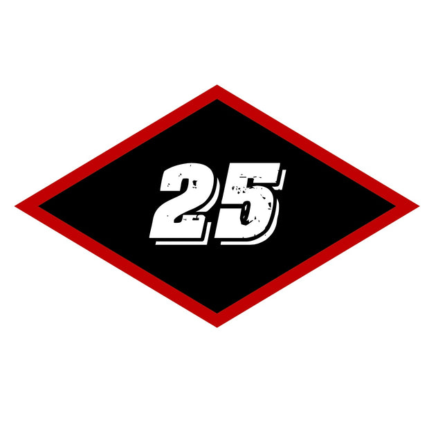 Sticker - Medium Black Diamond 25