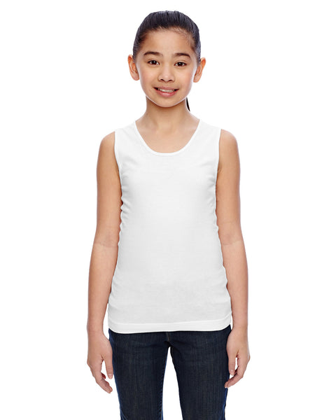STEP 1 - LAT - White Tank Top - Girls & Ladies Cut
