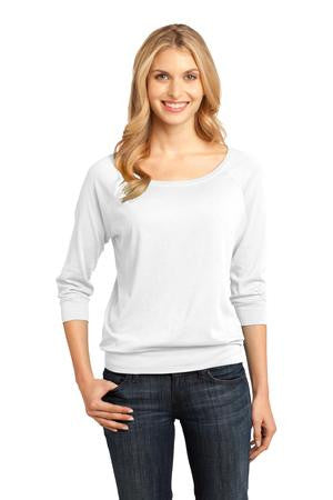 Sale-DM482-WMTD-District Made® - Ladies Modal Blend 3/4-Sleeve Raglan