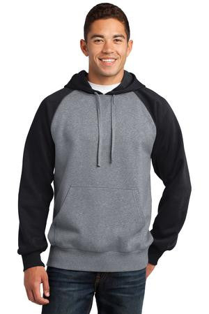 Adult Sport-Tek® Raglan Colorblock Pullover Hooded Sweatshirt