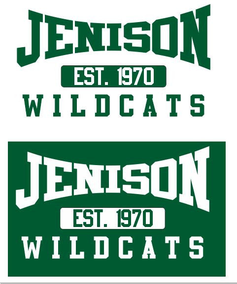 STEP 2 - Screen Printed Designs - Jenison Est 1970