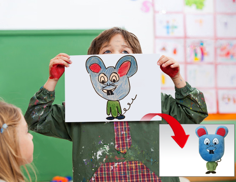 Turn your child's drawing into a stuffed animal