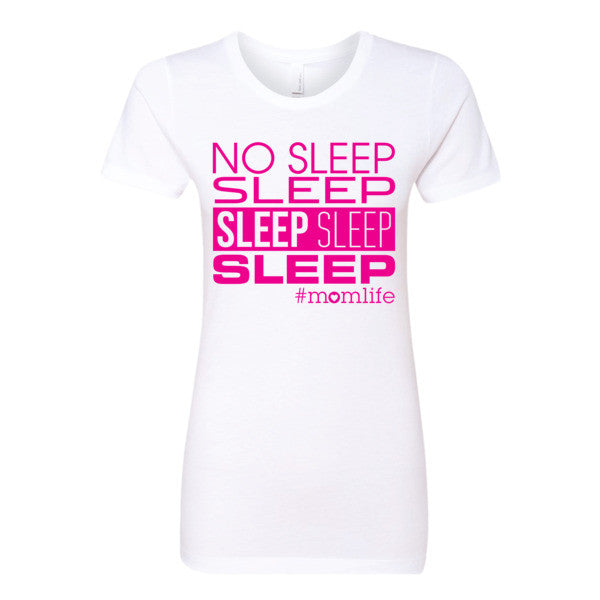 No Sleep Sleep Sleep Sleep Sleep Top - Hot Pink