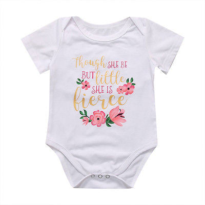 Though She Be But Little She Is Fierce Onesie