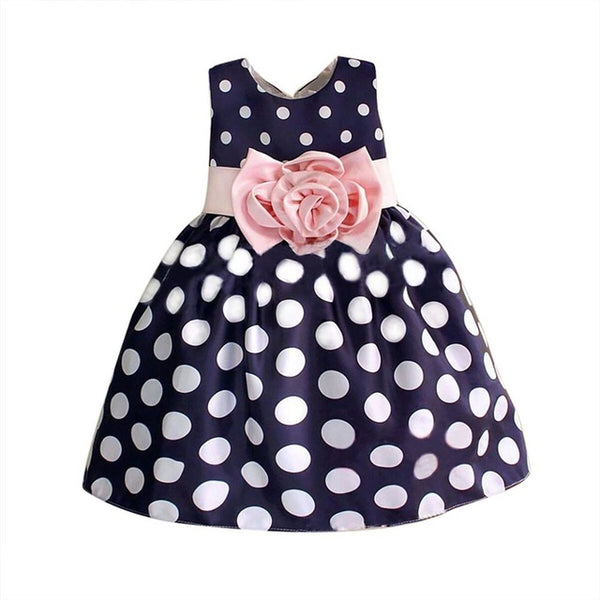 Flower Polka Dot Dress