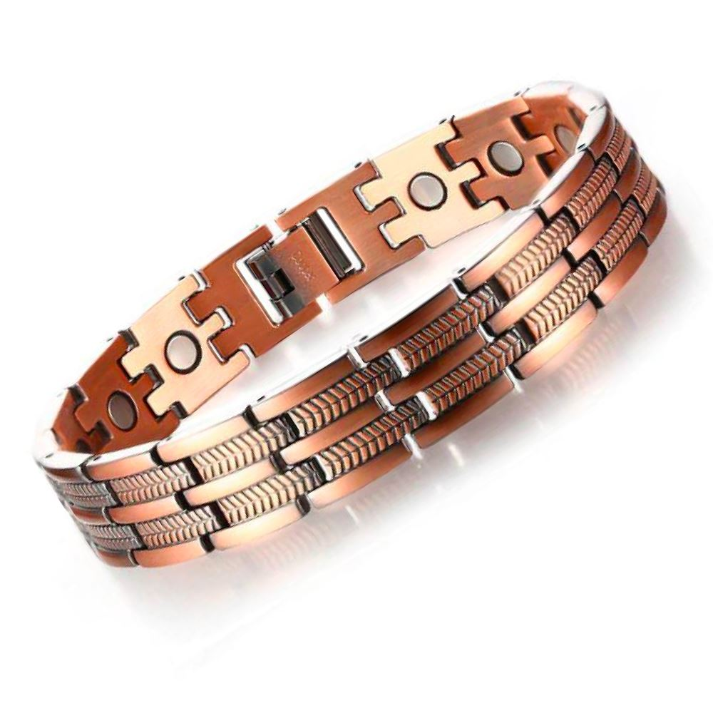 Magnetic Wide Linked Copper Bracelet
