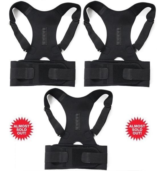 ORTHO BRACE SUPPORT (BLACK-XL 3 ITEMS)
