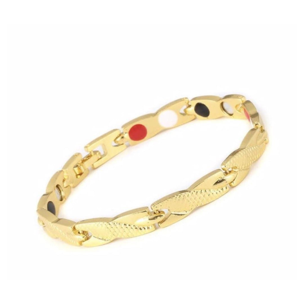 Twisted Magnetic Therapy Bracelet - Gold - 3 ITEMS
