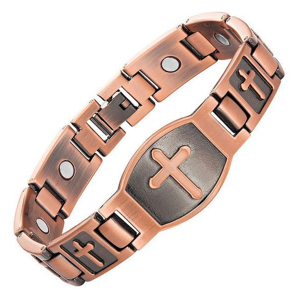 Magnetic Saint Wide Copper Bracelet