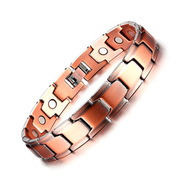 Magnetic Simple Linked Copper Bracelet