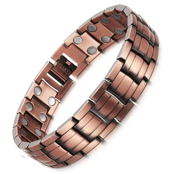 Magnetic Wide Copper Bracelet