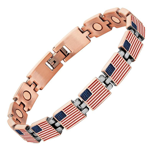 Stars & Stripes Magnetic Copper Bracelet