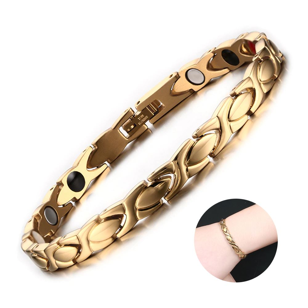 Magnetic Simple Leaf Bracelets for Women