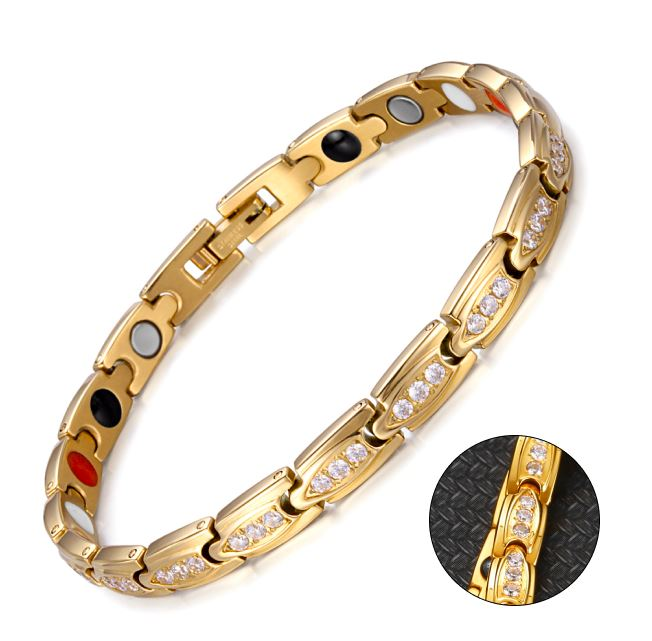 Magnetic Zirconium Chain Bracelets for Women