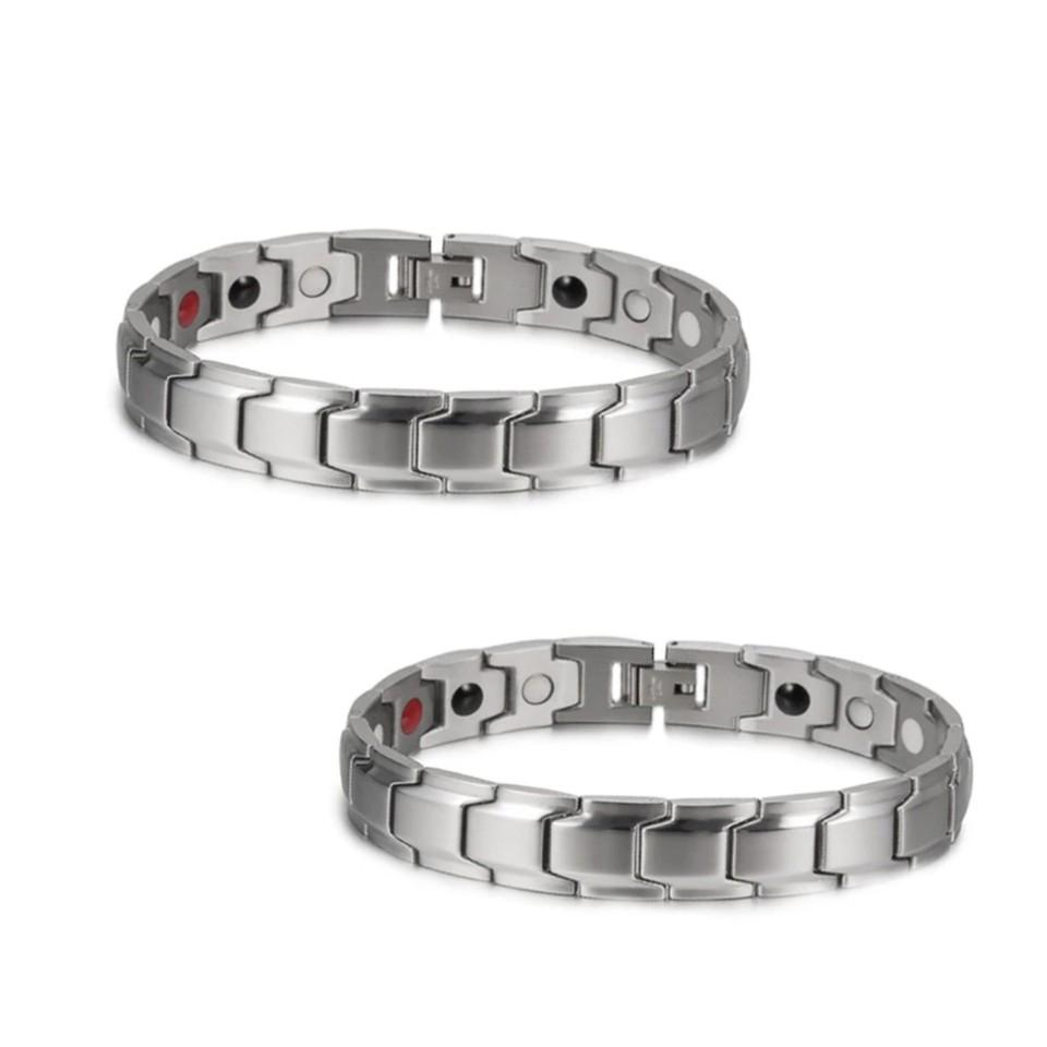 MAGNETIC SILVER BRACELET (2 ITEMS)