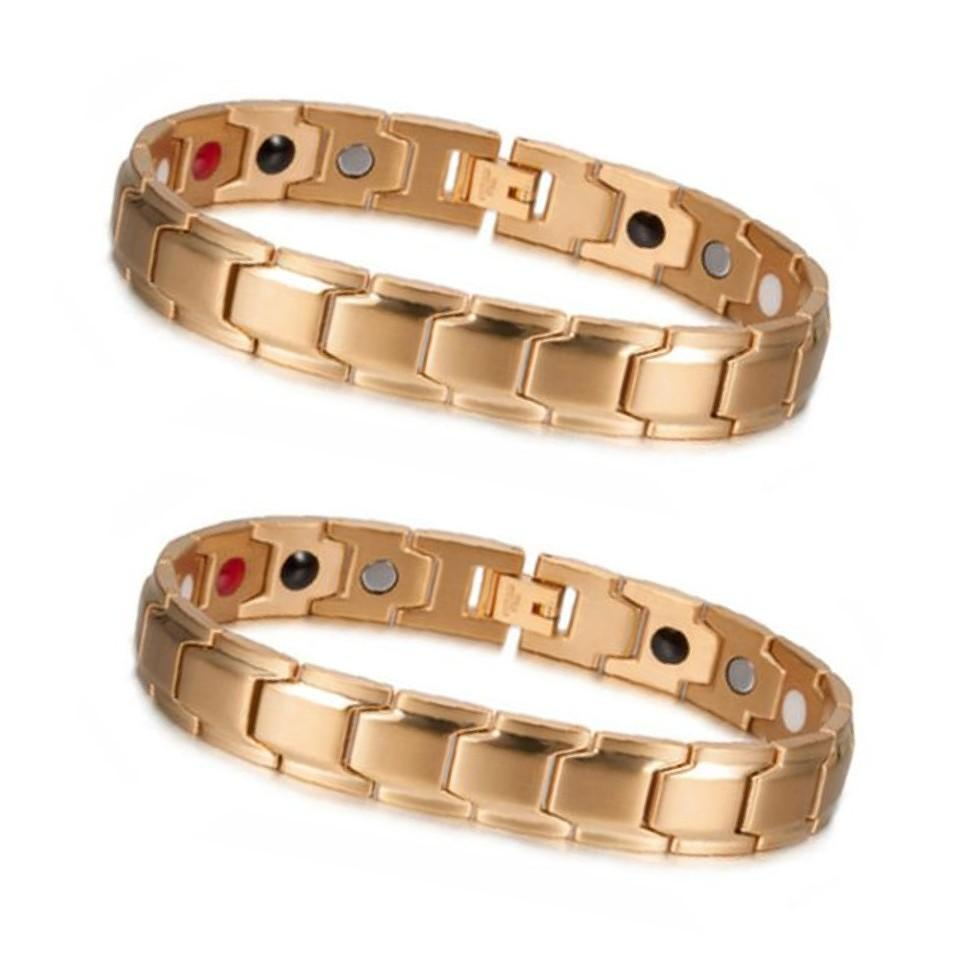 GOLD MAGNETIC BRACELET (2 ITEMS)