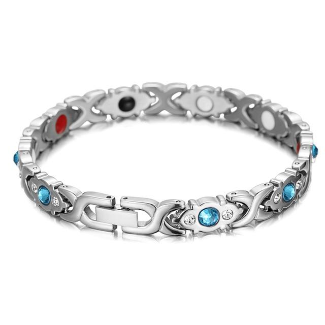 Magnetic Therapy Silver Frozen Bracelet (Limited Edition, 2 items)