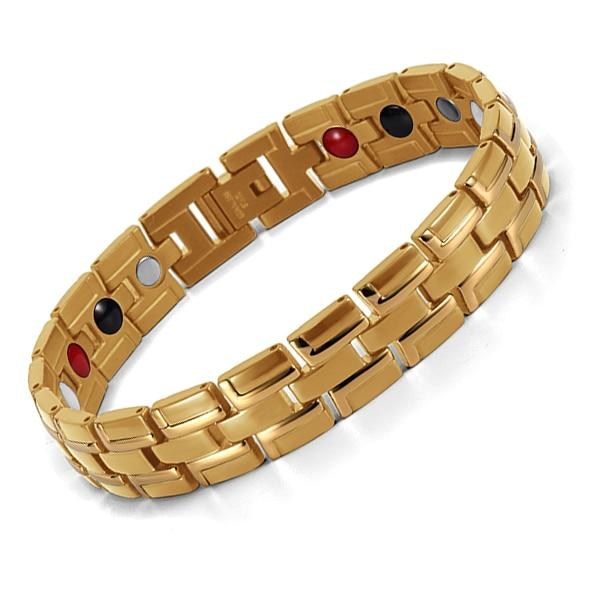 Therapeutic Magnetic Bracelet Men/Women - Gold - 3 ITEMS