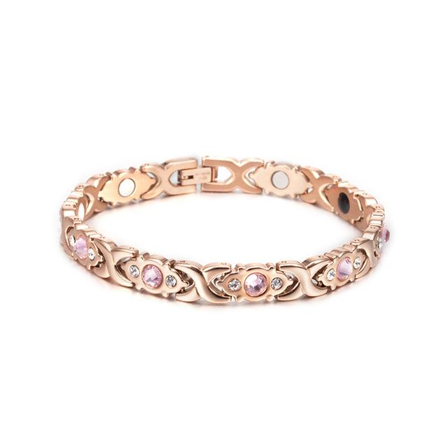 Magnetic Therapy Pink Gems Bracelet (3 item)