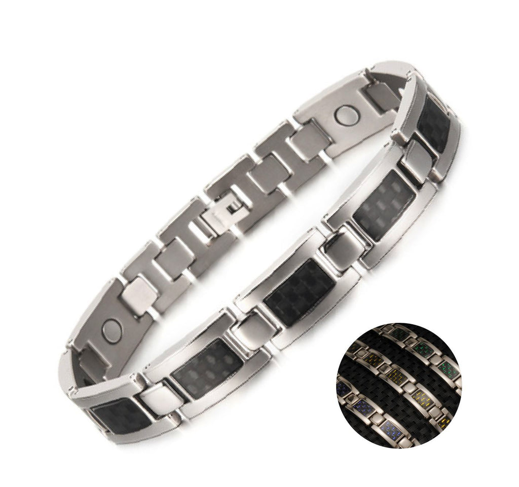 Health Magnetic Titanium Silver Bracelets (3 ITEMS)