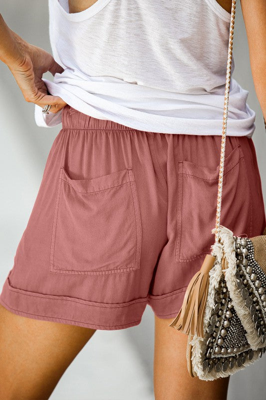 Cotton Everyday Cargo Shorts (Mauve)