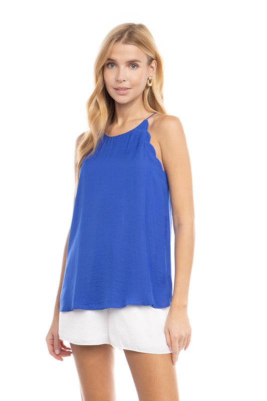 Scallop Detail Classic Cami Tank