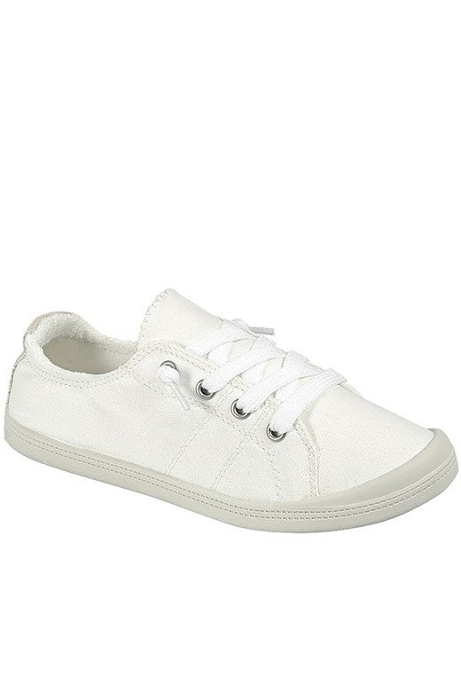 White Canvas Comfort Sneaker