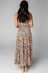 Sleeveless Cheetah Maxi Dress