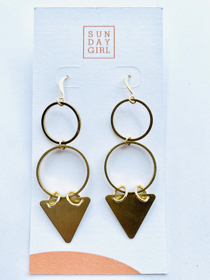 Sunday Girl Semi Fine Brass Drop Earring