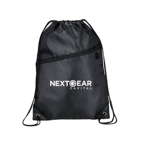BLACK DRAWSTRING BACKPACK (10-PACK BUNDLE)